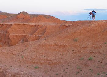 Photography at the Flaming Cliffs