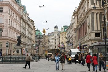 Graben, one of the main commercial streets in Vienna