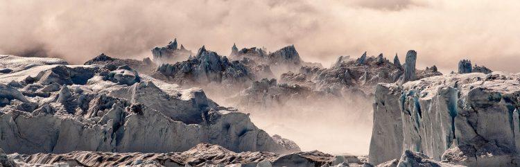 A glacier in Greenland.
