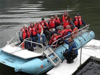 Group outing off Alaska's coast.