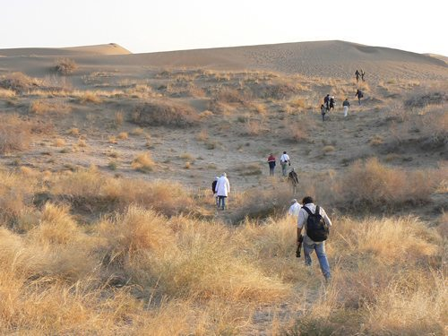 Hiking in the vast central desert in the middle of Iran.