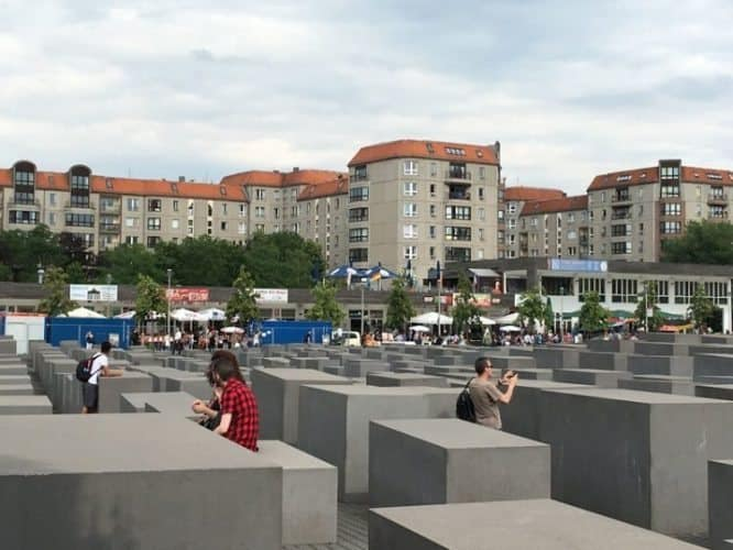 The holocaust memorial sculpture garden is one of the most visited sites in Berlin.