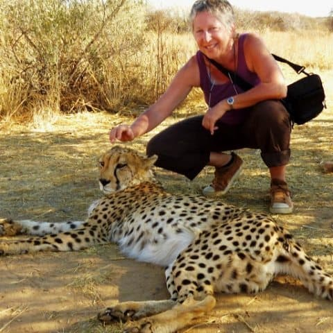 Jeanne Block in Namibia.