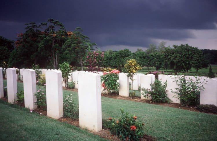 Kranji war cemetery, honoring WW II dead.