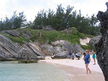On the beach in Bermuda
