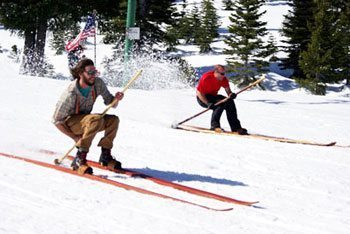 The Historic Longboard Revival Series commemorates the world's first ski races in Plumas County, California.