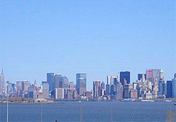 NY skyline from the Explorer of the Seas