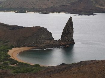 Pinnacle Rock on Bartolome Island. photo by Nancy Porter.