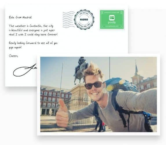 Grab a photo from your phone...and Postly will send it as a regular postal service postcard to anywhere you want in the world!