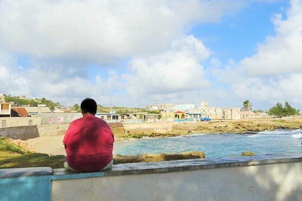 Cuba off the beaten track. A quiet moment in Gibara Cuba.