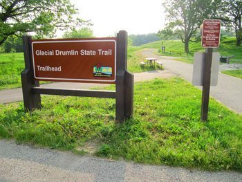 The Glacial Drumlin Trail's western trailhead is located in Cottage Grove.