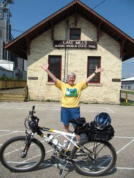 Lake Mills is the central Trail Office and sells t-shirts, like this one, purchased by the author.