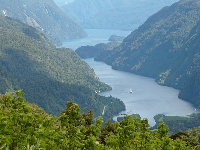 View of Doubtful Sound from Wilmott Pass. photo by Cindy Bigras.