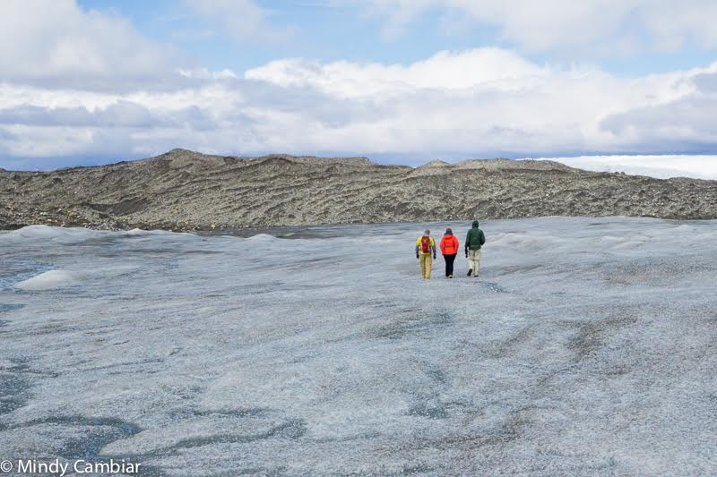 Strolling the ice fields of Greenland.