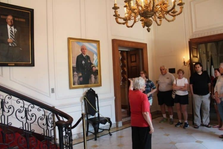 A house tour of the historic Anderson Inn, where George Washington once camped.