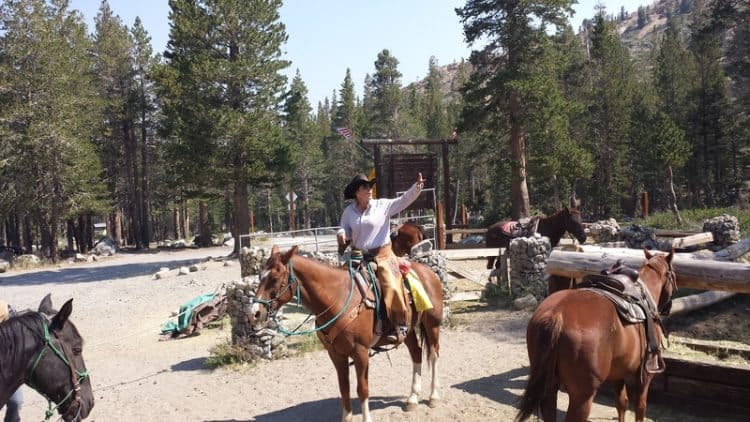 Courtney, the guide on the trail ride through Mammoth Lakes.