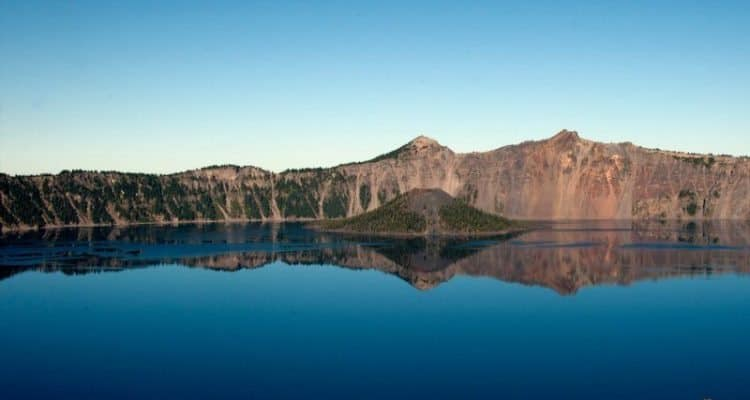Crater Lake is a famous nature site near Portland, Oregon.