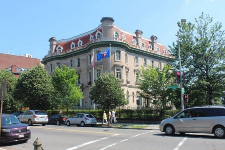 Dupont Circle is full of beautiful mansions like this one