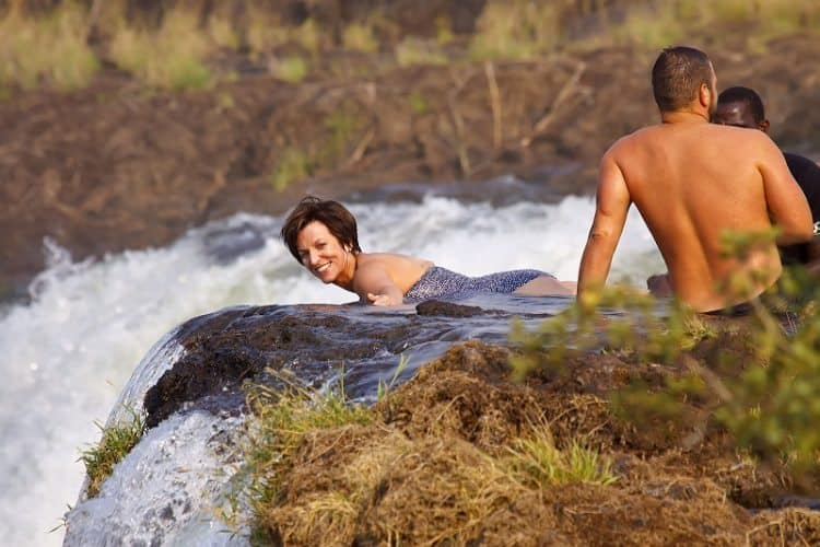 Zambia swimming with the devil gonomad travel for Devils swimming pool victoria falls