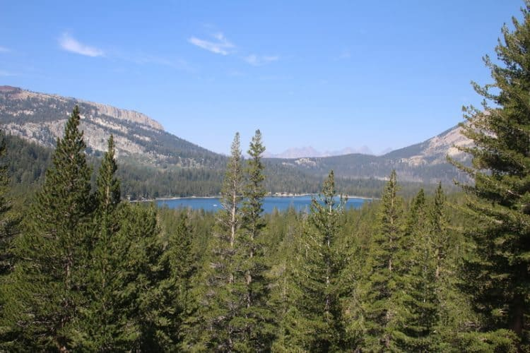 View of Lake Mary from the trail.