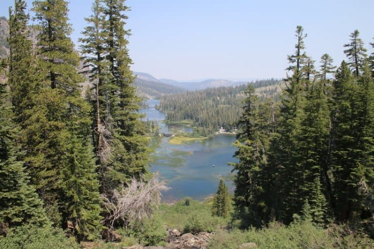 View of Lake Mary in the Sierra Nevada mountains of California.