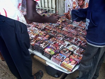 Videos for sale in the markets.