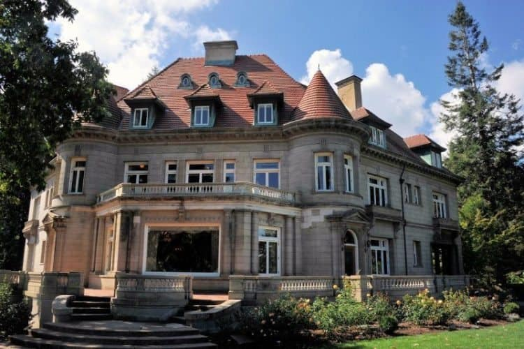 The Pittock Mansion Built in 1914 Over Looking Portland, Oregon.