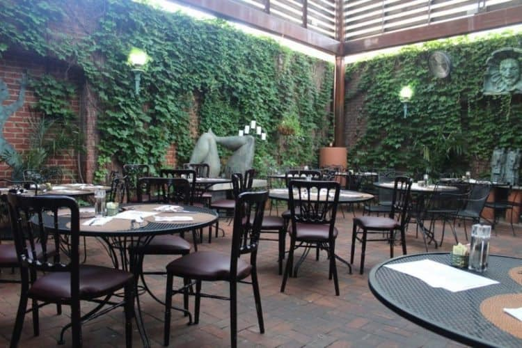 Tabard Inn dining patio