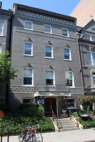 The Tabard Inn is in the heart Washington DC at Dupont Circle, a great choice for a stay.