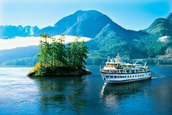 Expedition cruises take passengers to some of the most remote regions on earth. Here Cruise West's the Spirit of Alaska rounds a bend.