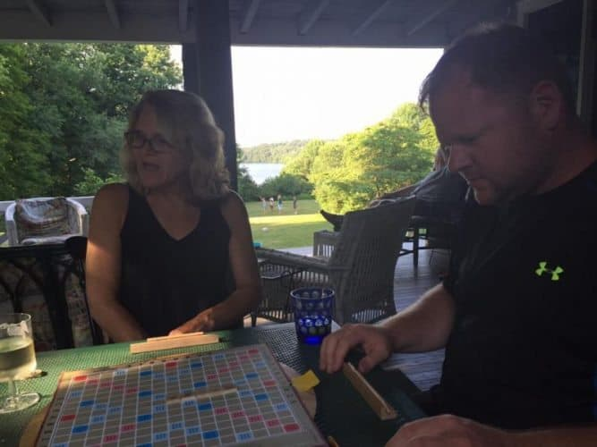 Playing board games in rural Pennsylvania with no phones in site: recipe for a fun family vacation.