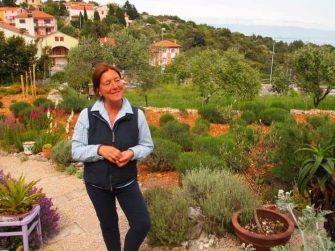 The proprietor of a local herb garden where essential oils are collected in Losinj.