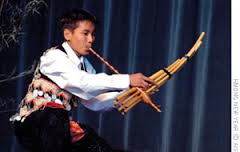 Tou Ger Xiong plays a traditional instrument to celebrate the Hmong New Year