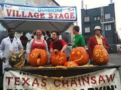 A pumpkin carving contest at the Fremont Oktoberfest