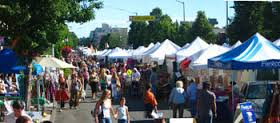 Hundreds of booths line the main stretch at the West Seattle Summer Fest