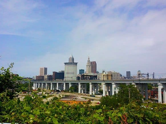 Cleveland's skyline.