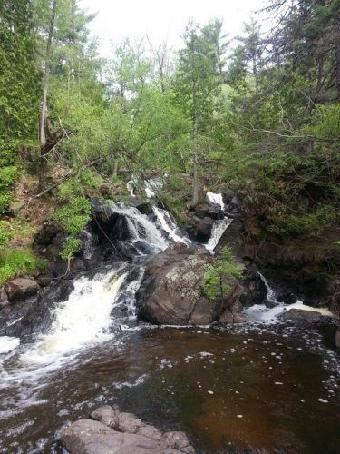 Headwaters to Lake Superior in the woods of Duluth, Minnesota.