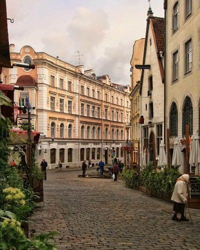 Image result for even cobble streets in Tallinn Estonia
