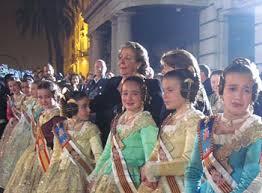 Young ladies at Las Fallas with Valencia's Mayor Rita Barbará Nolla. Photo by Jean Spoljaric.