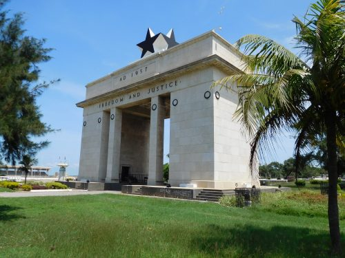 Celebrating Ghana's independence in 1957