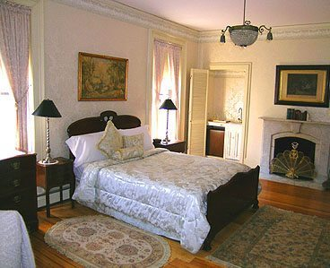 A bedroom in the Old Court B and B in Providence.