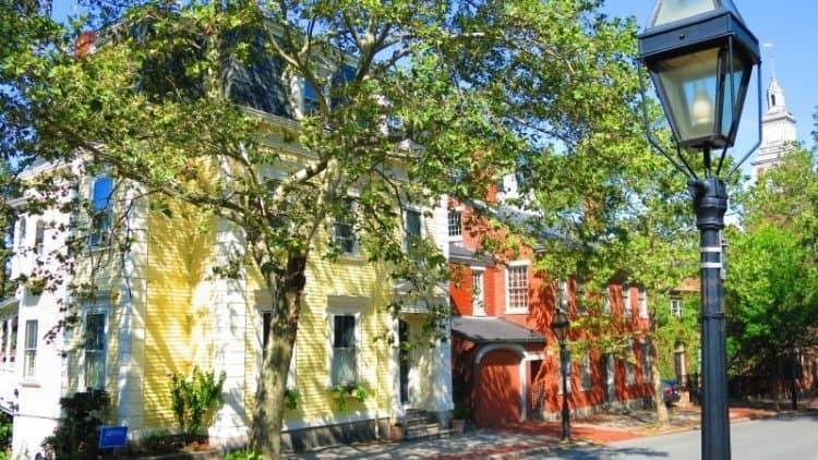 Benefit Street, Providence, Rhode Island.