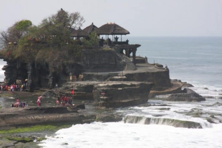 A seaside temple at Tanah Lot on the southwest coast of Bali.