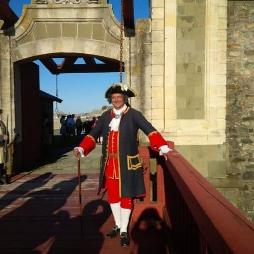 Cape Breton - Louisbourg Fortress - Sentry at the Dauphin Gate.