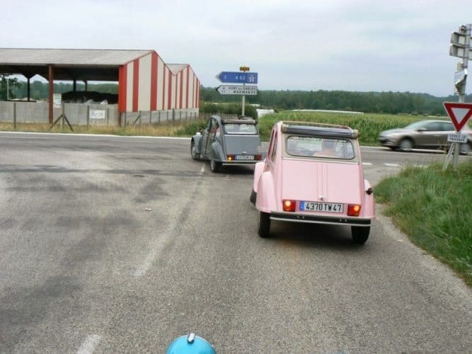 Car rentals in Europe: You can even rent a Citroen 2CV like these in Europe. Max Hartshorne photo.