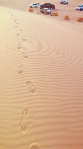 Footprints in the Empty Quarter