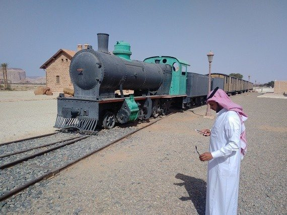 The Hijaz Railway was built to ferry pilgrims to Medina for the Haj, it was closed in 1918 and never ran again.