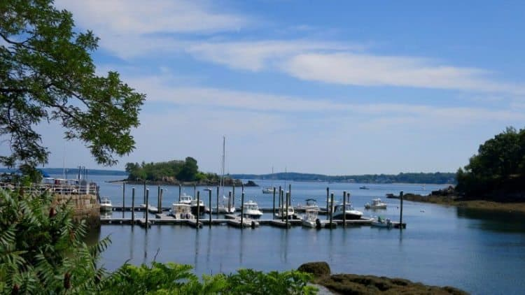 The harbor at Great Diamond Island, Maine. Shelley Seale photos.