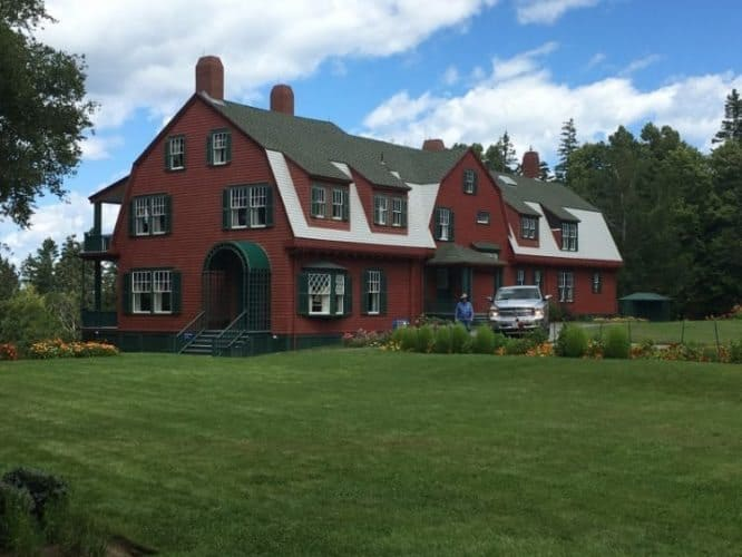 The Red Cottage, FDR's family vacation home on Campobello Island, New Brunswick.