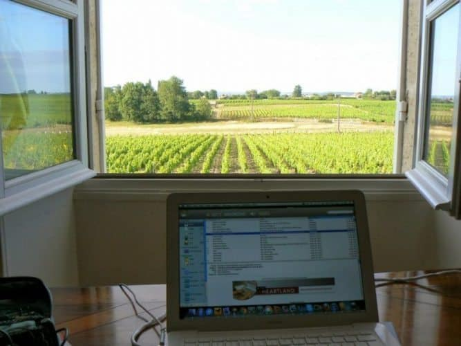 This can be YOUR office when you become a digital nomad. Northern France.